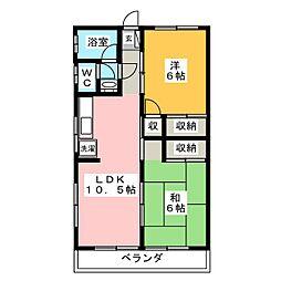コーポ東口[2階]の間取り