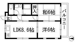 コンフォート中山寺[3階]の間取り