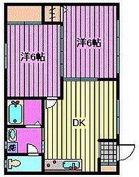 サンシャイン1(サンシャイン角田)[202号室]の間取り