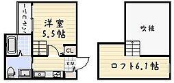 RIDE II[103号室]の間取り