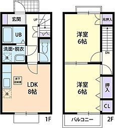 BONHEUR I[2階]の間取り