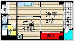 堀江テラス[701号室]の間取り
