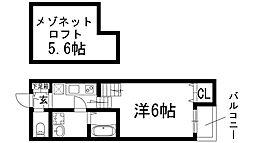 OASIS IKEDA A棟[2階]の間取り