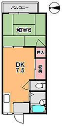 シャンポール野村[1階]の間取り