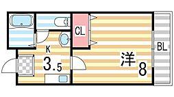 キュービック119[103号室]の間取り