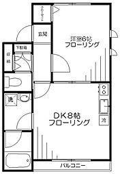 ラコンテ[3階]の間取り