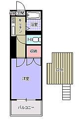 AC城野[1階]の間取り