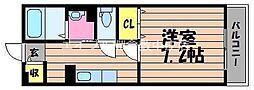 岡山県倉敷市中畝7丁目の賃貸アパートの間取り