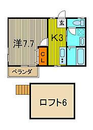 ロミーナB[2階]の間取り