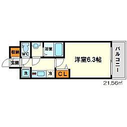 ララプレイス新大阪LD[7階]の間取り
