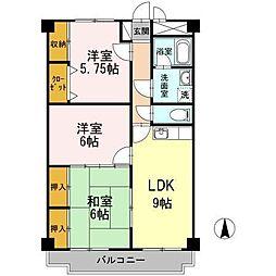 ラヴィニール兵庫[3階]の間取り