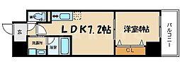 レオンコンフォート大手通[6階]の間取り