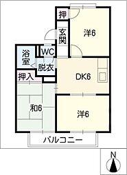 シティ正木II[2階]の間取り