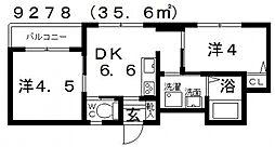 Domani(ドマーニ)[302号室号室]の間取り