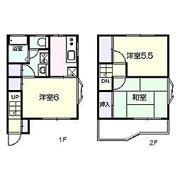 [タウンハウス] 千葉県松戸市六高台7丁目 の賃貸【/】の間取り