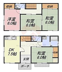 [一戸建] 大阪府堺市西区上 の賃貸【大阪府 / 堺市西区】の間取り