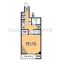 東京都品川区旗の台4丁目の賃貸マンションの間取り