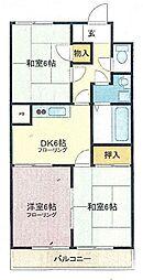 埼玉県さいたま市桜区町谷1丁目の賃貸マンションの間取り