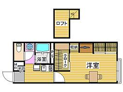レオパレスエミネンスII[2階]の間取り