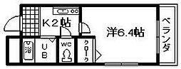フレッサ岸和田[10号室]の間取り