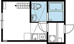京急本線 追浜駅 徒歩12分の賃貸アパート 1階1Kの間取り