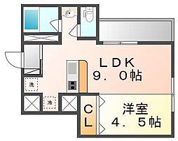 JR高徳線 栗林公園北口駅 徒歩5分の賃貸マンション 5階1LDKの間取り