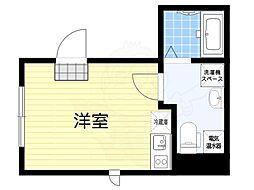 グランドセントラル日本橋茅場町 3階ワンルームの間取り