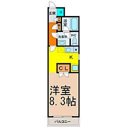 愛知県名古屋市千種区橋本町3丁目の賃貸マンションの間取り