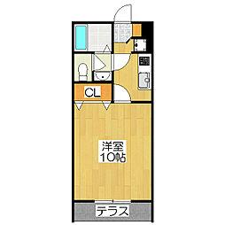 コゥジィー・コート[1階]の間取り