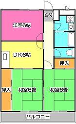 埼玉県入間市大字上藤沢の賃貸マンションの間取り
