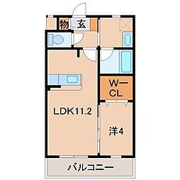 ノース・タツノII[2階]の間取り