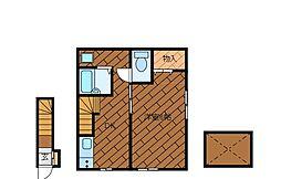 鶴川ビューハイツ[2階]の間取り