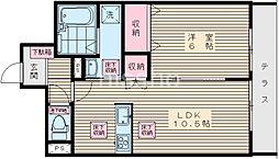 7582−家政ハイツ六番館[102号室]の間取り