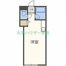 北海道札幌市東区北丘珠二条2の賃貸アパートの間取り