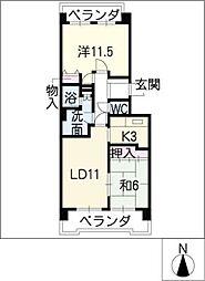 エスポア日進803号室[8階]の間取り