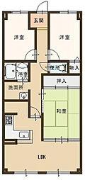 サンシティ本荘[1階]の間取り