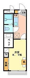 兵庫県加古郡播磨町本荘3丁目の賃貸アパートの間取り