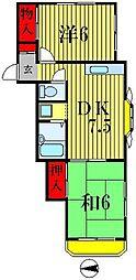 アムールピア[2階]の間取り