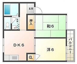 K・メゾン ベレトワール[2階]の間取り