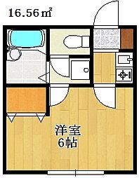 千葉県船橋市西船1の賃貸アパートの間取り