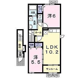 リバーサイドハウス[0202号室]の間取り