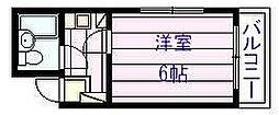 プレステージ国分[1階]の間取り