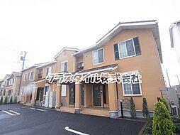 神奈川県厚木市上落合の賃貸アパートの外観