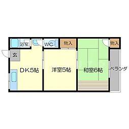 第一宮原マンション[3階]の間取り