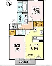 セジュール・アルジェント[2階]の間取り