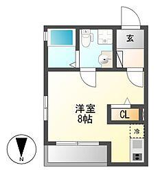 Plan Baim Atsuta Tenma[3階]の間取り