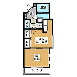 ポンドサイド蓮 パートII[1階]の間取り