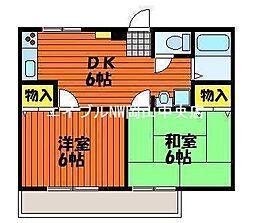 コーポ中井B棟[2階]の間取り
