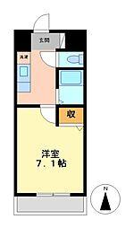 メゾンアソシエ鶴舞[1階]の間取り