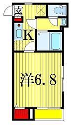 東京都葛飾区鎌倉2丁目の賃貸アパートの間取り